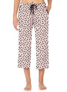 KATE SPADE SOLID LOUNGE CROPPED WIDE LEG PANT IN PASTEL SPOT