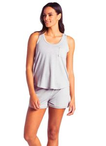 SOFTIES CALI SCOOP TANK AND SHORT SET IN GREY