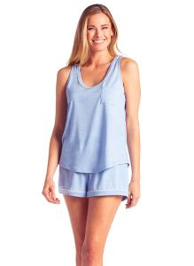 SOFTIES CALI SCOOP TANK AND SHORT SET IN SKY BLUE