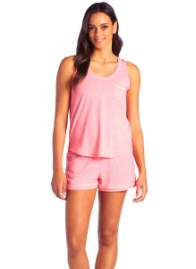 SOFTIES CALI SCOOP TANK AND SHORT SET IN STRAWBERRY