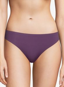 CHANTELLE SOFT STRETCH THONG IN FIG