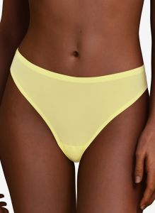 CHANTELLE SOFT STRETCH THONG IN CITRUS