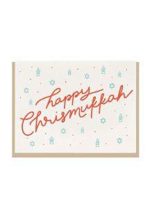 "DAHLIA PRESS HOLIDAY GREETING CARD ""MERRY CHRISTMUKKAH"""
