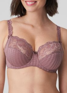 PRIMA DONNA MADISON SIDE SLING WIRE BRA IN SATIN TAUPE (F-H CUPS)