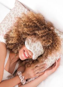 KITSCH SMALLS SATIN SLEEP SET IN LEOPARD