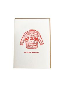 "DAHLIA PRESS ""SWEATER"" HOLIDAY GREETING CARD"