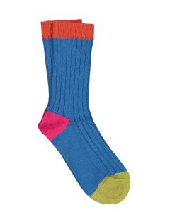 ILUX TRINA CASHMERE SOCKS IN TEAL