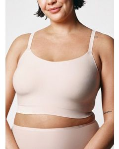 CHANTELLE SOFT STRETCH PADDED SCOOP BRA TOP IN BEIGE