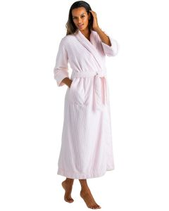 SOFTIES CLOUD FLEECE LONG ROBE IN PINK