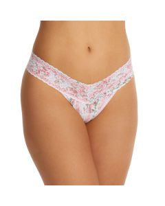 HANKY PANKY SIGNATURE LACE LOW RISE THONG IN PRAIRIE BLOOM