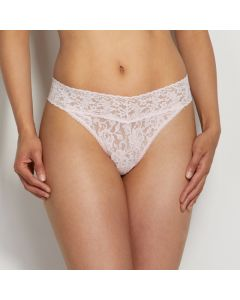 HANKY PANKY SIGNATURE LACE ORIGINAL RISE THONG IN BLISS