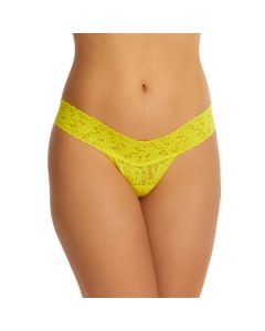 HANKY PANKY SIGNATURE LACE LOW RISE THONG IN ZESTY YELLOW