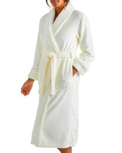 SOFTIES SHERPA LONG ROBE IN IVORY