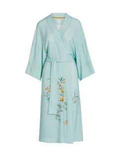 PIP STUDIO NOELLE LONG ROBE IN GRAND FLEUR BLUE