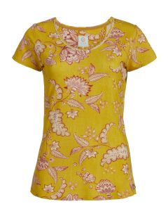 PIP STUDIO TILLY S/S PAJAMA TOP IN JAMBO YELLOW
