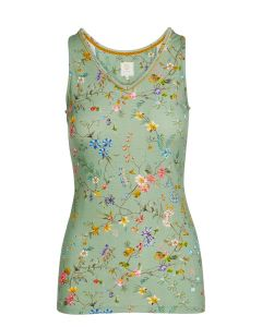 PIP STUDIO TESSY SLEEVELESS TOP IN PETITES FLEURS GREEN