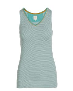 PIP STUDIO TESSY SLEEVELESS TOP IN SHINY STRIPES GREEN