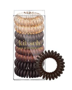 KITSCH 8-PACK HAIR COILS IN BRUNETTE