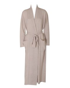 ARLOTTA CASHMERE LONG ROBE CASHMERE IN OATMEAL