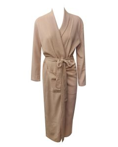 ARLOTTA CASHMERE LONG ROBE IN CAMEL