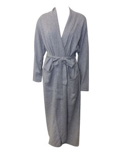 ARLOTTA CASHMERE LONG ROBE IN FLANNEL