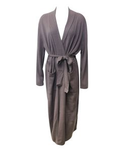 ARLOTTA CASHMERE LONG ROBE IN SABLE