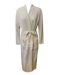ARLOTTA CASHMERE LONG ROBE IN SNOW