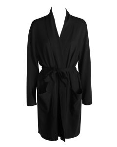 ARLOTTA CASHMERE SHORT ROBE IN BLACK