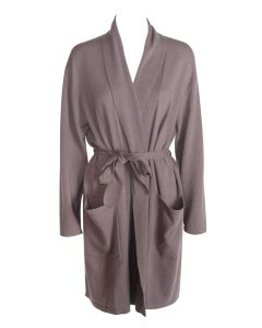 ARLOTTA CASHMERE SHORT ROBE IN SABLE