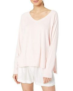 PJ HARLOW PJ HARLOW L/S V-NECK SWEATER IN BLUSH PINK