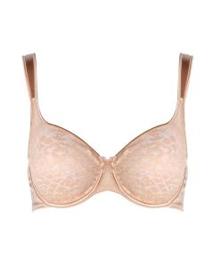 EMPREINTE MELODY MOLDED LACE FULL CUP BRA IN CARAMEL