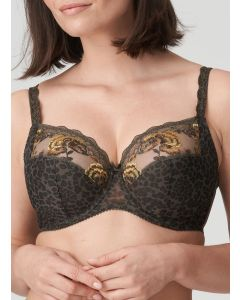 PRIMADONNA PALACE GARDEN SIDE SLING WIRE BRA IN REPTILE (H-I CUPS)