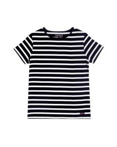 ARMOR LUX BRETON STRIPE SHORT SLEEVE TOP IN NAVY AND WHITE STRIPES