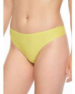 CHANTELLE SOFT STRETCH THONG IN MUSTARD YELLOW