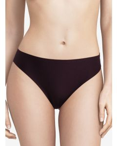 CHANTELLE SOFT STRETCH THONG IN AUBERGIN