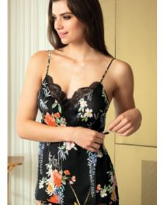 LISE CHARMEL PATIO GLYCINE CAMISOLE IN BLACK