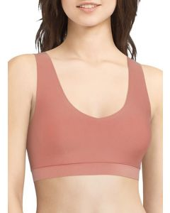 CHANTELLE SOFT STRETCH PADDED V-NECK BRA TOP IN CANYON