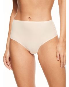 CHANTELLE SOFT STRETCH RETRO THONG IN BEIGE