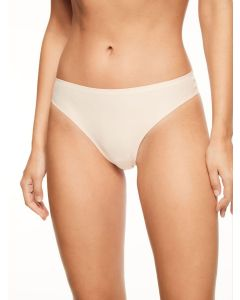 CHANTELLE SOFT STRETCH THONG IN LIGHT BEIGE