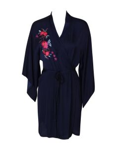 JOSIE BY NATORI BARDOT SATIN SHORT ROBE