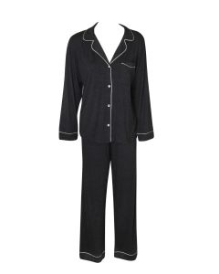 EBERJEY GISELE PAJAMA SET IN CHARCOAL HEATHER