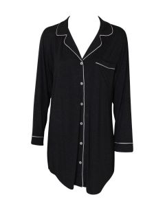 EBERJEY GISELE NIGHTSHIRT IN CHARCOAL HEATHER