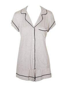EBERJEY GISELE SHORT PJ SET IN OATMEAL
