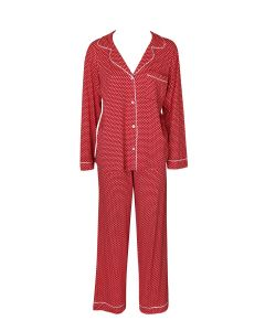 EBERJEY SLEEP CHIC PAJAMA SET IN DIAMANTE RED
