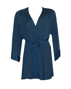 NATORI SWEET STREET SHORT ROBE IN BLUE