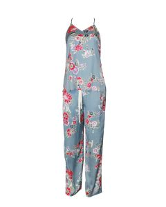 NATORI LOTUS BOUQUET PAJAMA SET IN BLUE