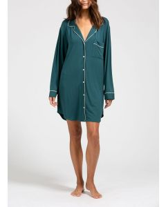 EBERJEY GISELE NIGHTSHIRT IN EVERGREEN