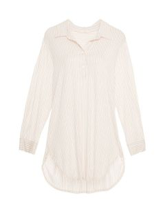 EBERJEY SLEEPY STRIPES NIGHTSHIRT IN SHELL
