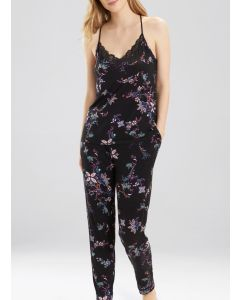 NATORI FREE SPIRIT PAJAMA SET IN BLACK