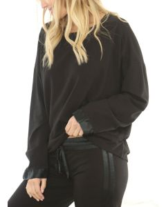 PJ HARLOW PJ HARLOW SWEATSHIRT IN BLACK